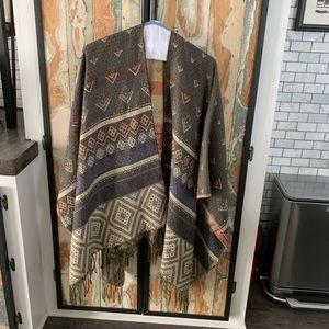 Other - Boho print thick shawl